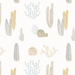 Repeating cactus print design