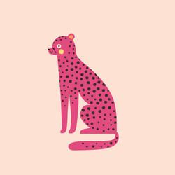digital illustration of cheetah