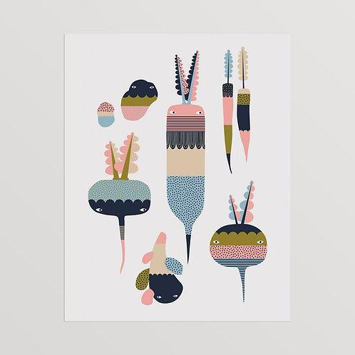 Root Dudes Art Print