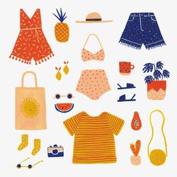 Summer fashion painting