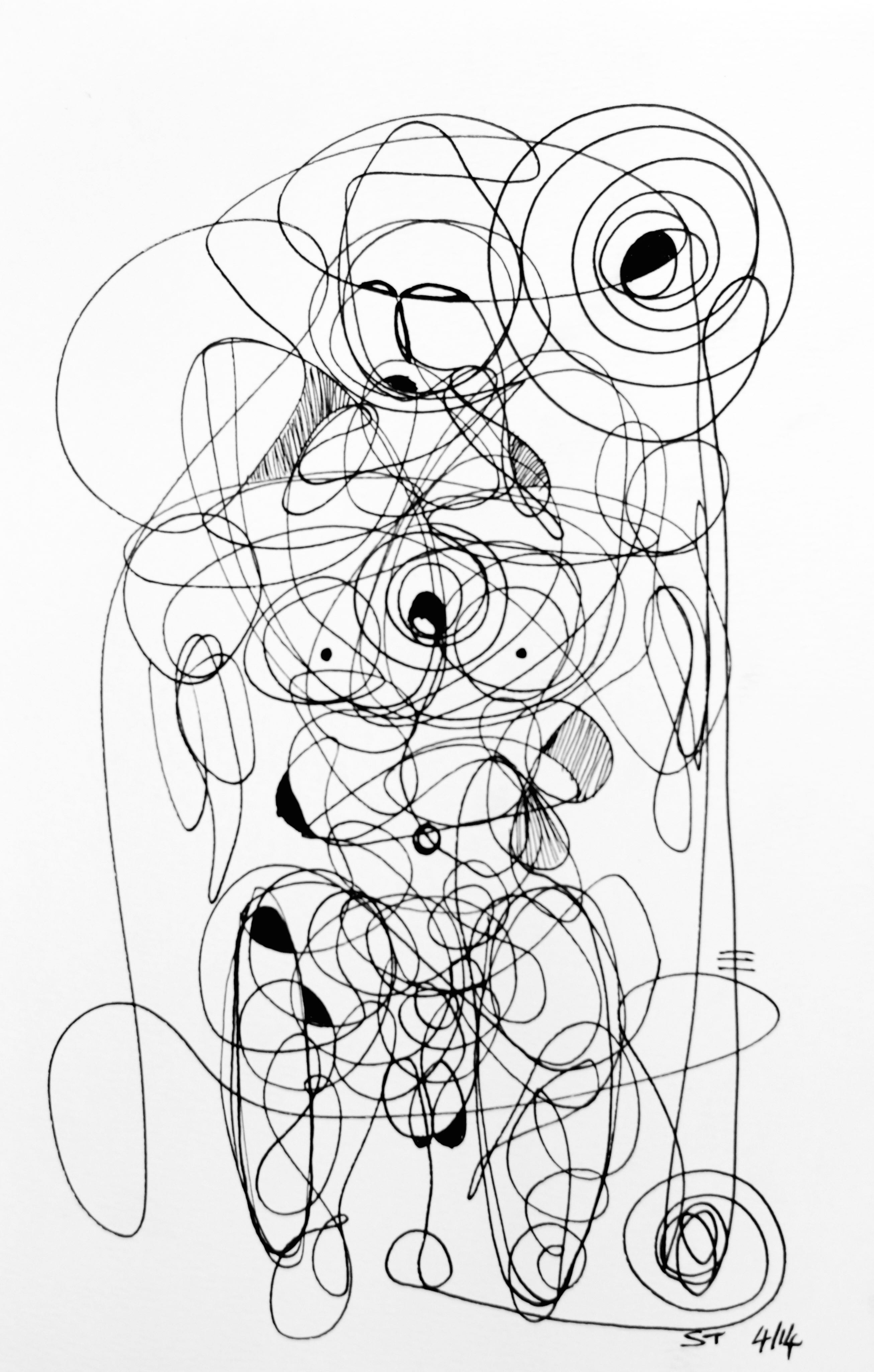Continual-line drawing - 12