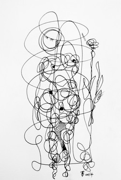 Continual-line drawing - 11