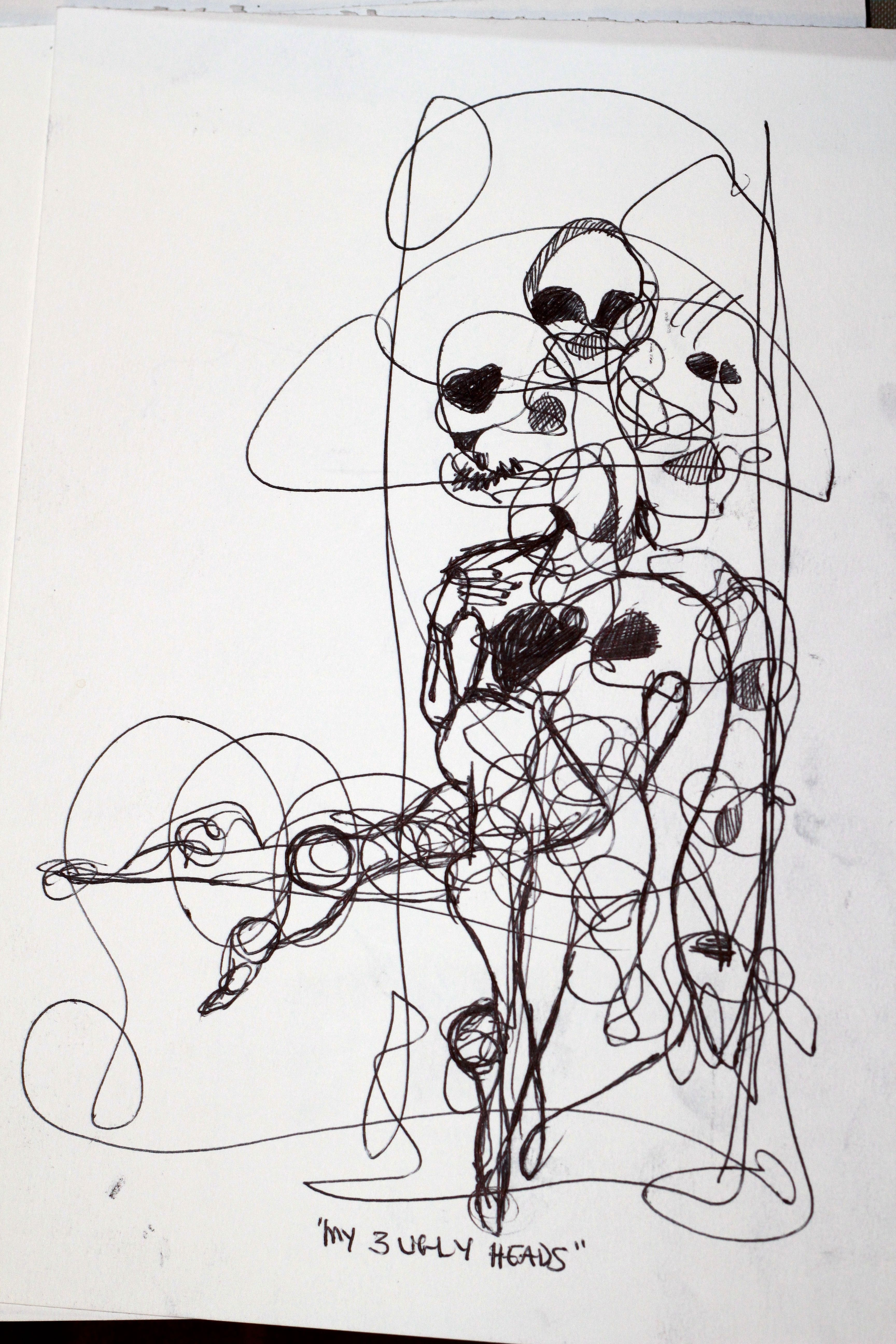 Continual-line drawing - 8