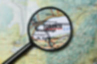 Close up of Toronto under a magnifying g