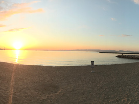 常滑りんくうビーチの夕日