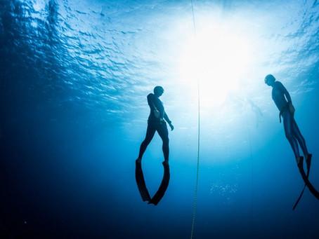 Estuvimos practicando buceo en apnea Freediver