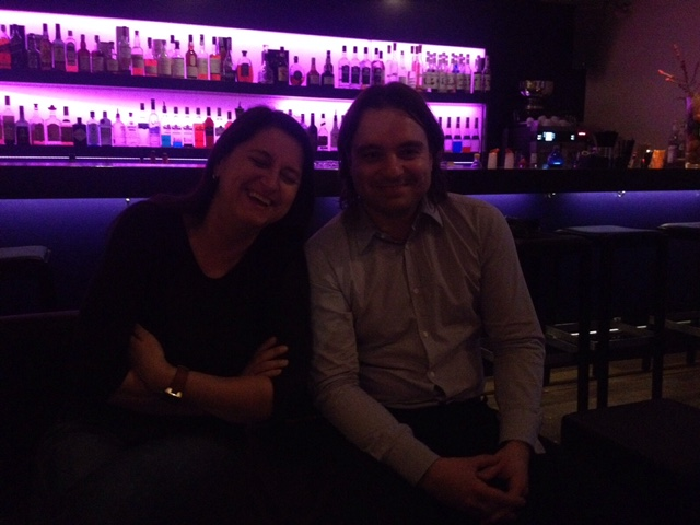 Ingrid & Thomas at the Hotel Bar