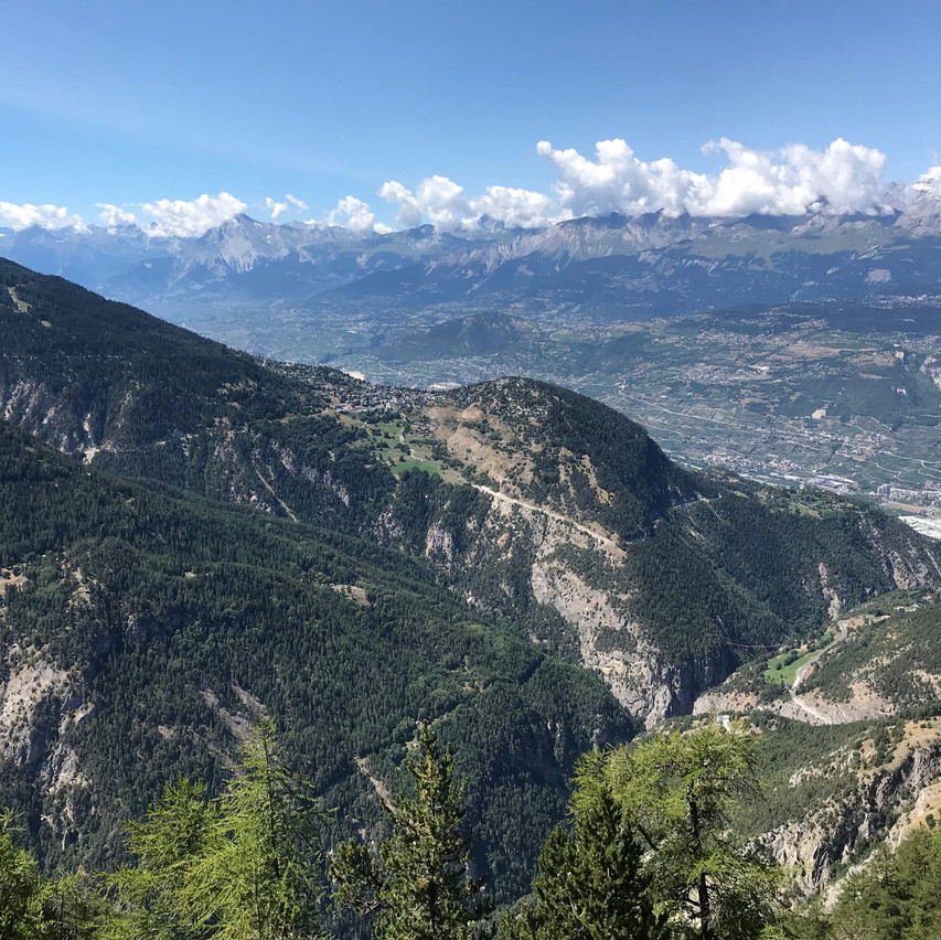 you can see Sierre on the right