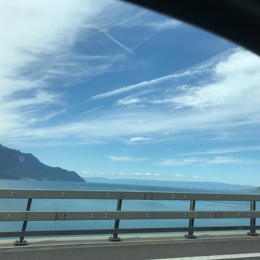 "passing the beautiful ""Lac Leman"""