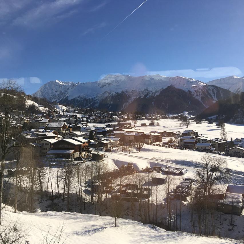 train ride through Switzerland