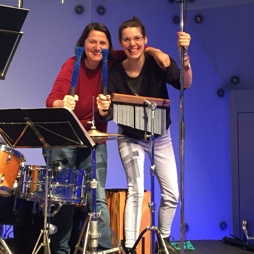 Ingrid O & moi ready to play : )!