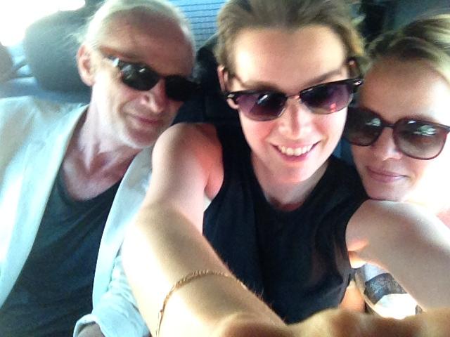 Selfie in the cab : )!