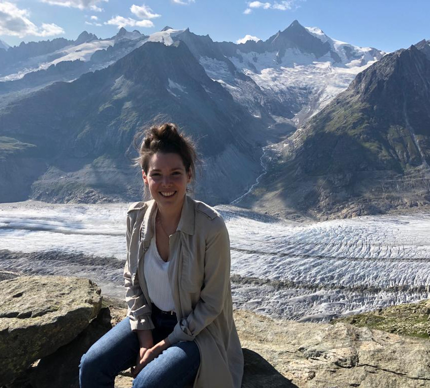 in front of the Aletsch