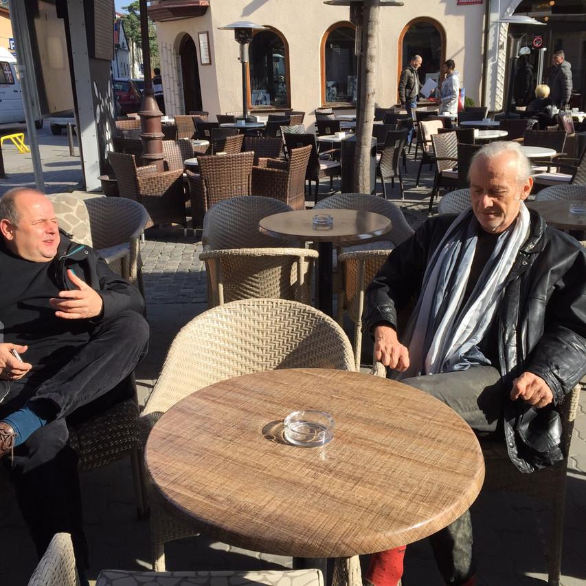 Hans & mathias enjoying the sun : )
