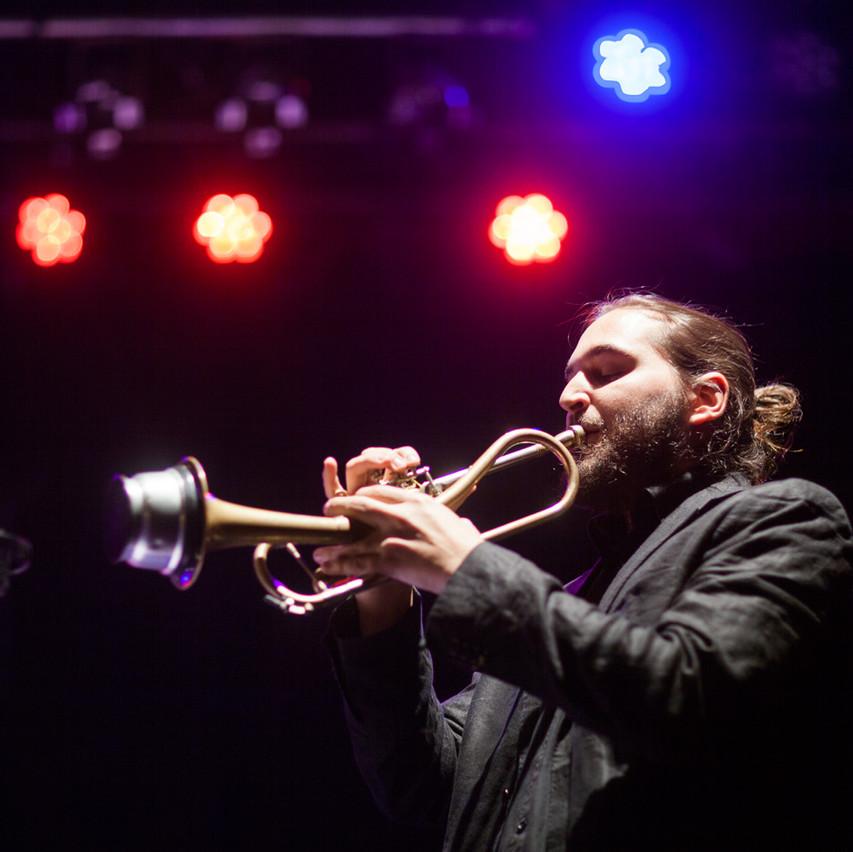 Mario Rom on trumpet!