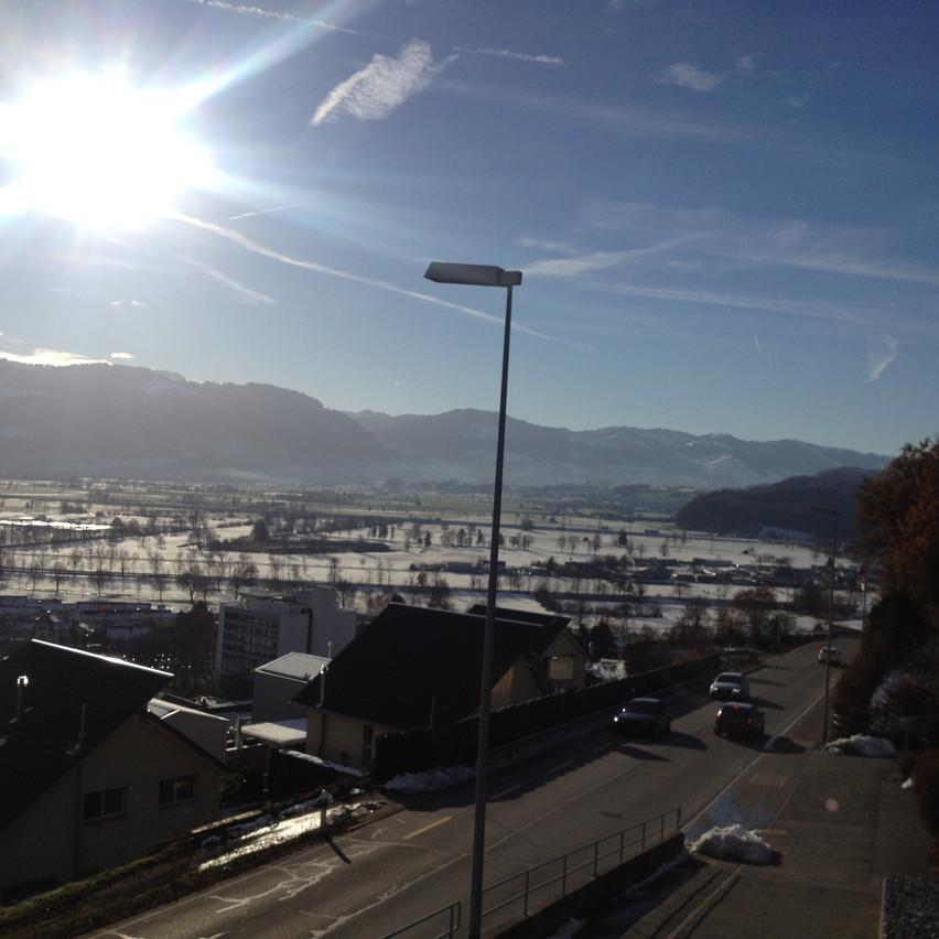 sunny weather in Switzerland
