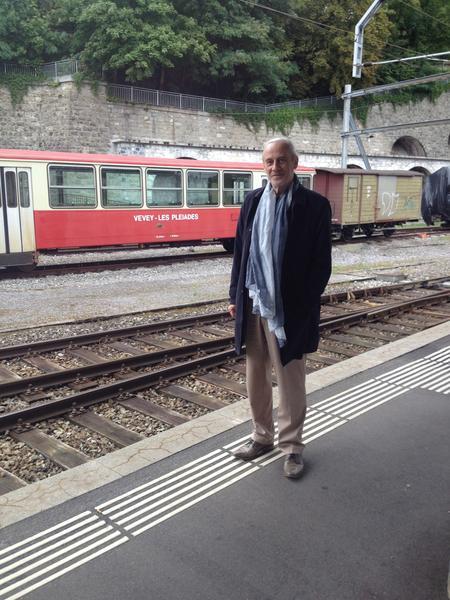 mathias & his beloved trains!