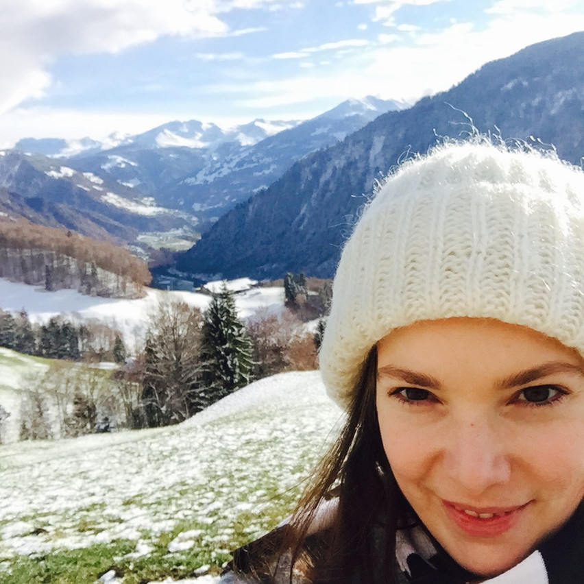 hiking through Swiss mountains : )