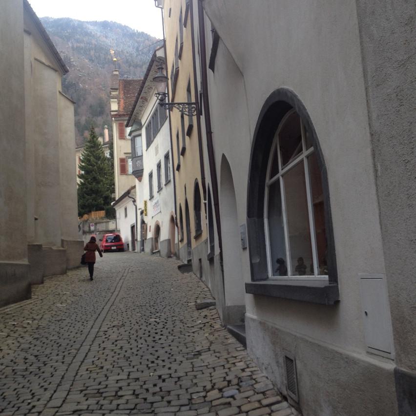 through the streets of Chur : )