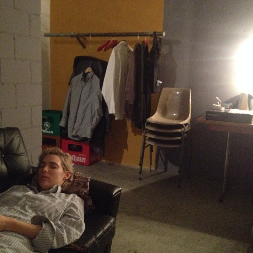 taking a nap backstage