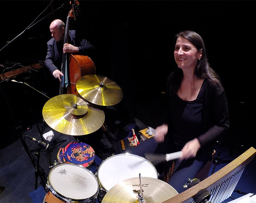 Ingrid Oberkanins on percussion!