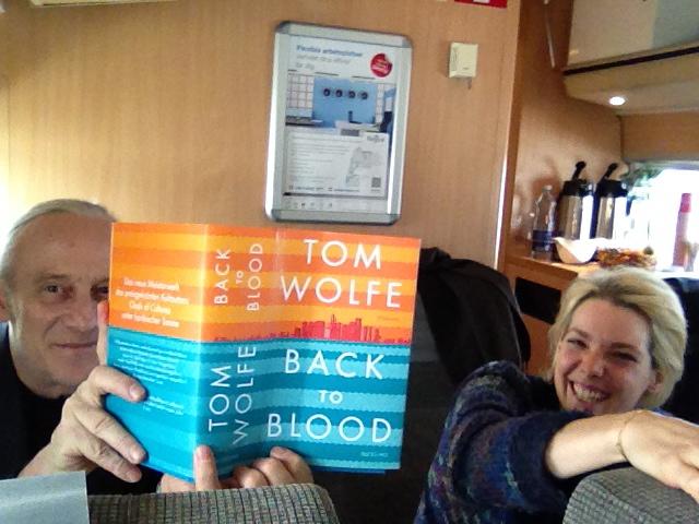 mathias showing his book : )