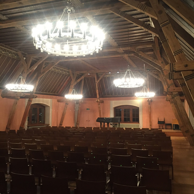 the concert hall inside the castle