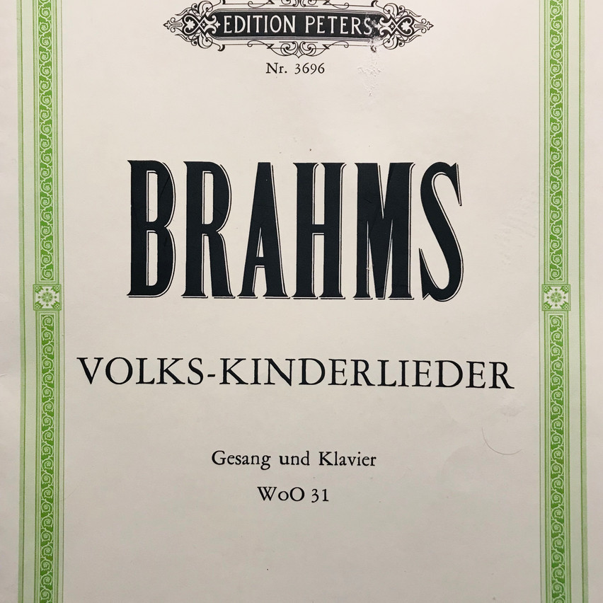 one of Brahms Song Book's