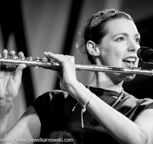playing the flute : )