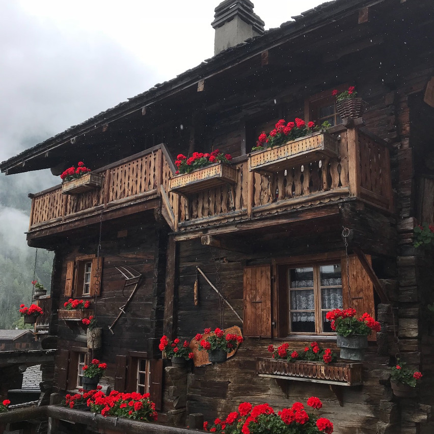 Grimentz with the flowers!