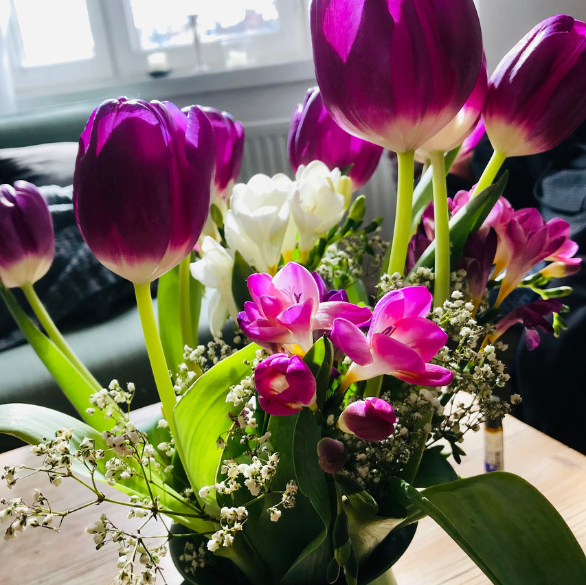 beautiful tulips from a dear friend