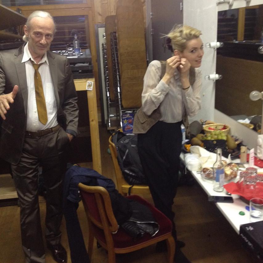 backstage...