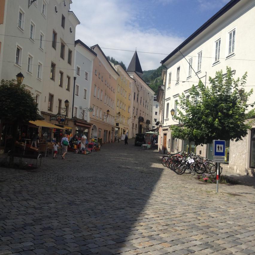walking round town