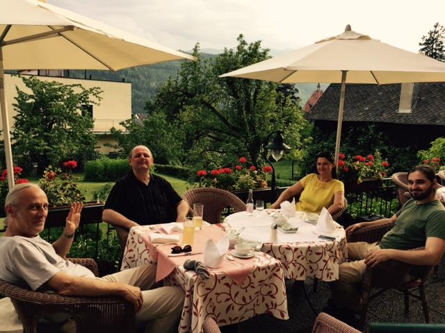 dinner on the terrace : )