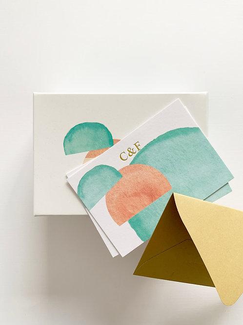 Monogram Kart Seti • Oyster •