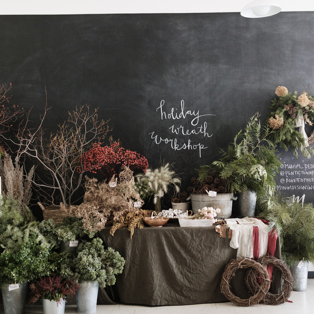 Wreath workshop | Photo by Boketto Photography