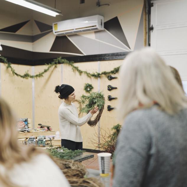 Wreath workshop | Photo by Marissa Joan Photography
