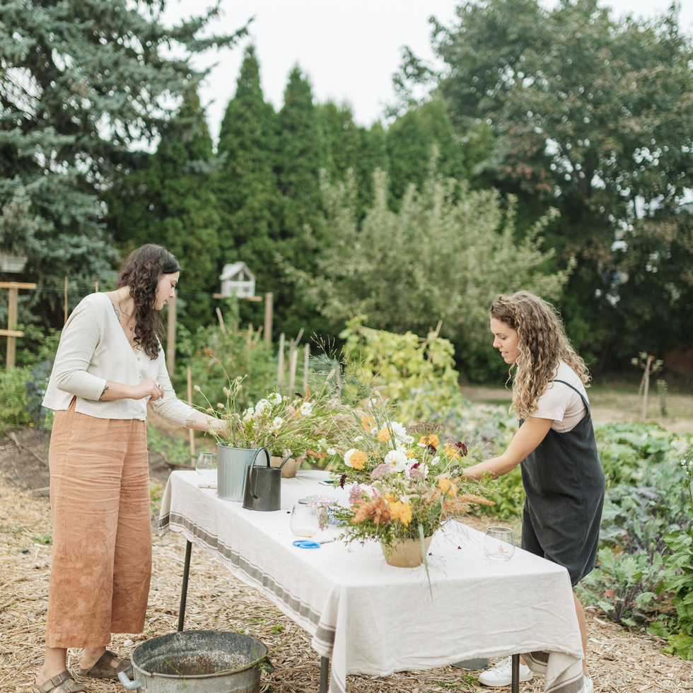 Private garden workshop | Photo by Boketto Photography