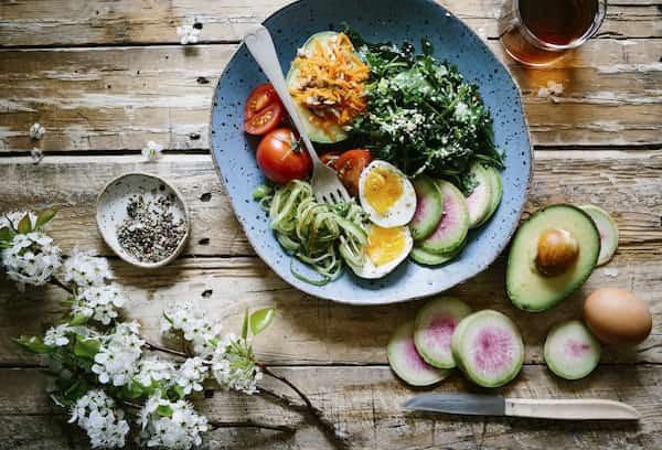 zasady zdrowej diety - zielony talerz