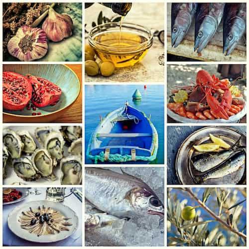 dieta śródziemnomorska, ryby, warzywa, owoce