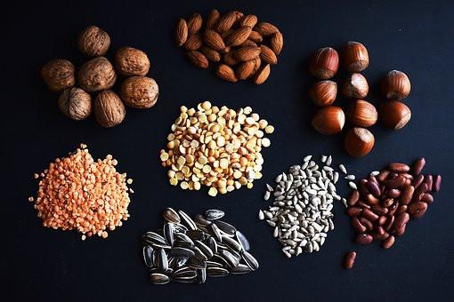 Błonnik w nasionach i orzechach