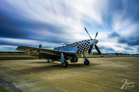 P51 in a storm