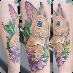Neo-traditional bunny