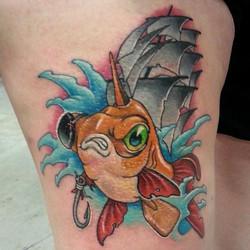 Pirate Goldfish Ship