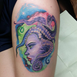 space lady with tentacles