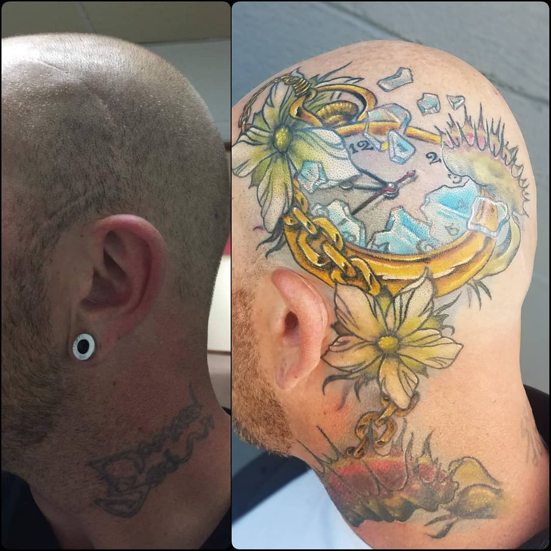 Time piece scar cover-up