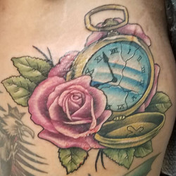 Watch and rose