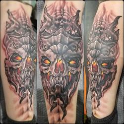 Demon skulls