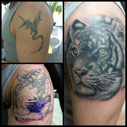 Neutral gray tiger cover-up