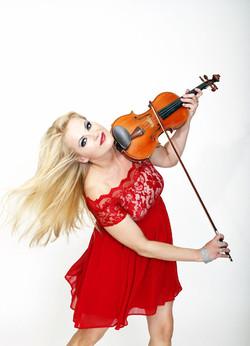 Geigerin, Violine mit DJ für Events